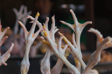 chafe: chicken feet in Vietnam market
