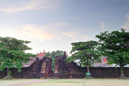 distric: City wall and gates, Phimai historical park, Phimai distric, Thailand, built 11-12 century A.D.
