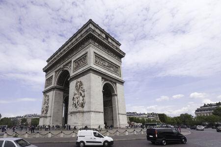 triomphe: arc de triomphe, Paris Stock Photo