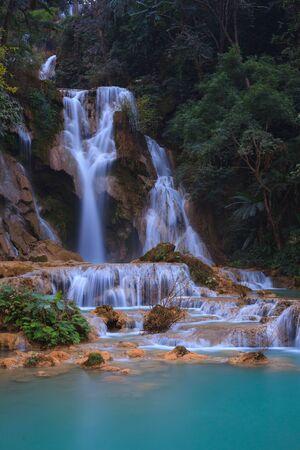 lao: Tad Kuang Si waterfall, Lungprabang, Lao