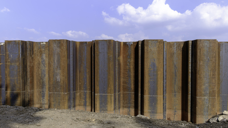 retaining: steel retaining wall sheet pile for underground construction