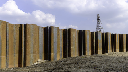 steel retaining wall sheet pile for underground construction