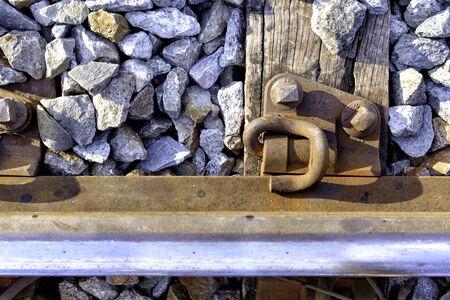 wood railway: wood sleeper railway grip lock