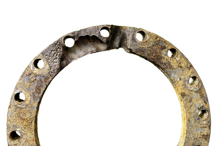 corrosion: flange pipe corrosion by water pressure