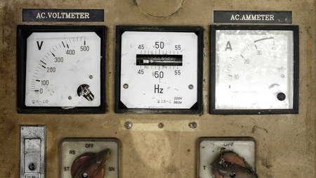 ammeter: broken Ac Voltmeter and ac Ammeter Stock Photo