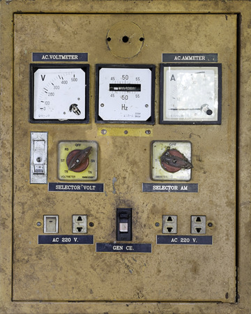 ammeter: broken electrical control
