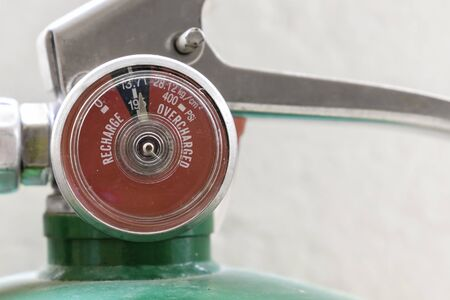 cfc: Pressure gauge of green Fire Extinguisher non cfc