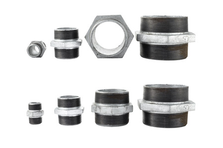 different size of  galvanized iron conector fitting for waterwork Banco de Imagens