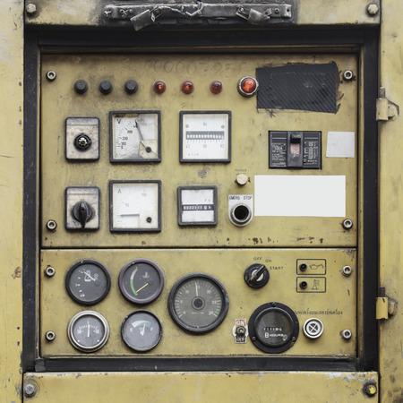 panel de control: Control Ole Generador Foto de archivo
