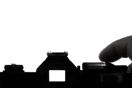 analogue: take photo with analogue camera Stock Photo