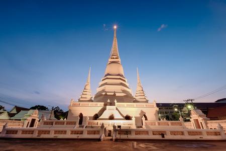 nontaburi: Wat Khemaphirataram Rachaworawihan, Nontaburi Province , Thailand, 1893 Stock Photo
