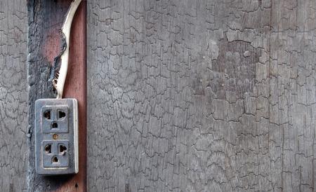 plug socket: Plug socket burned