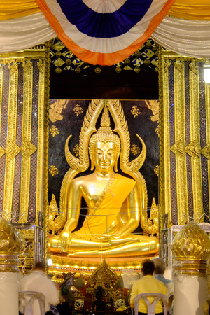 disciples: Most beautiful Buddha image in Thailand, Phra Buddha Chinnarat at Wat(temple) Phra Si Rattana Mahathat, 1357(Public Place)