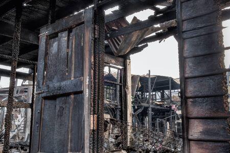 burn: House burn Stock Photo