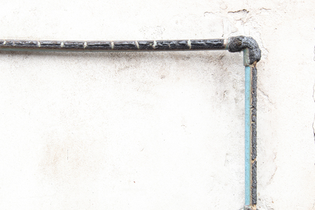 quemadura: Tubos de PVC se queman Foto de archivo