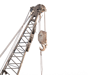 pulley: Old pulley of tower crane
