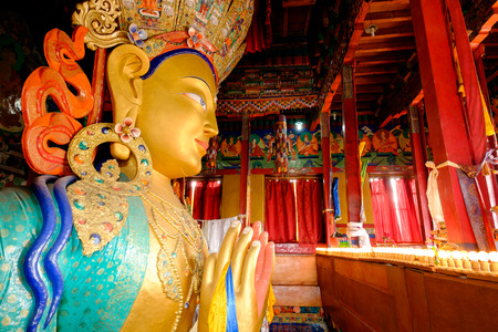Future buddha or Maitreya Buddha 28th at Thiksey Monastery, Leh Ladakh, India