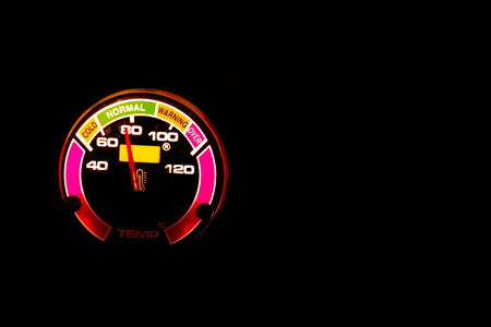 celsius: Temperature meter for electric generator, celsius unit
