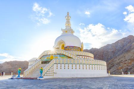 shanti: Shanti Stupa, Leh, India, built by both Japanese Buddhists and Ladakh Buddhists