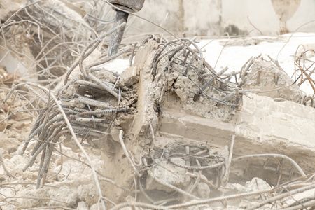 waste material: building destroy, material  waste Stock Photo