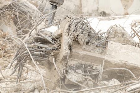 destroy: building destroy, material  waste Stock Photo