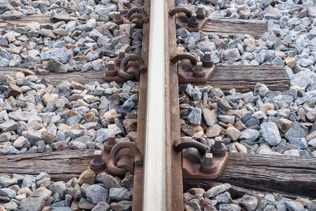 chock: old sleeper and old rail way
