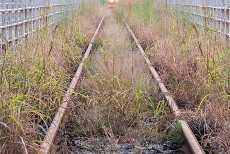 chock: old rail way Stock Photo