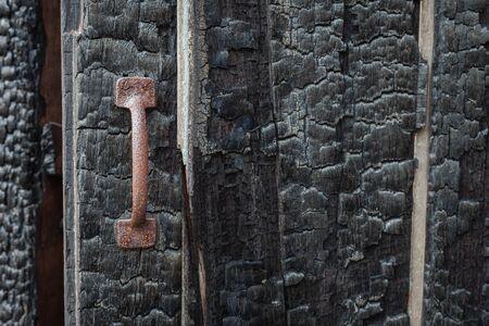 quemadura: quemadura de madera, manejar la corrosi�n Foto de archivo