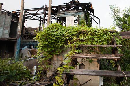 quemadura: quemadura casa Foto de archivo