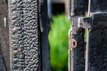 quemadura: la quemadura puerta Foto de archivo
