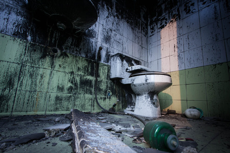 vuile wc Stockfoto