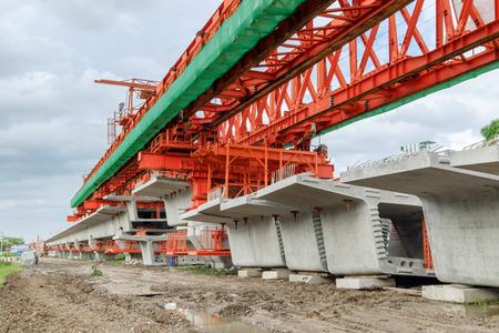 erection bridge box girder Stock Photo