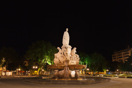 night time view of Esplanade Charles De Gaulle, Nice, France