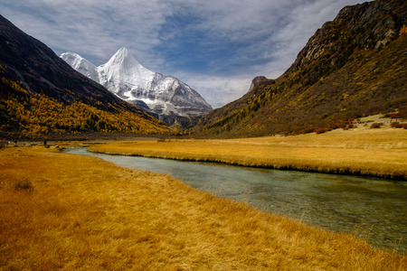 signify: Yanding Nature Reserce, Jampelyang(Tibet)  or YangmalyongChina) is signify wisdom, 5958 msl,  Tibent call this land Nyiden, China Stock Photo