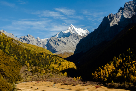 signify: Yanding Nature Reserve,  Channa Dorje(Tibet) or Xianuoduoji(China) is signify power, 5958 msl, Tibent call this land Nyiden, China Stock Photo