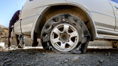 blowout: blowout during drive on the road