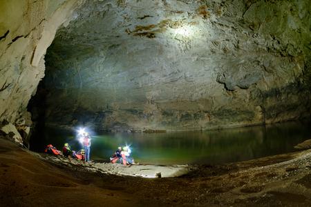 kilometres: unseen at xe bangfai river cave, Bualapha, Laos , since 1905 by Franch, 10.5 kilometres long, Hin Nammo National Bio-Diversity Conservation Area