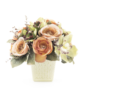 stage props: flowers craft in vase Stock Photo