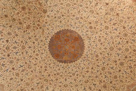 art of roof at Ali Qapu Palace, Esfahan, Iran Stock Photo