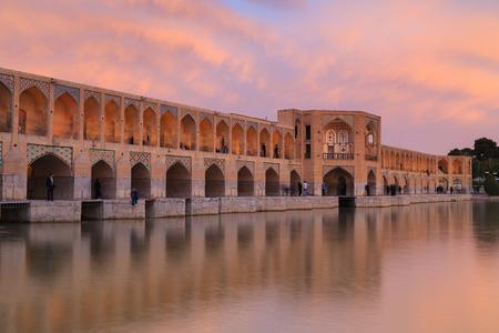 Pol-e Khaju 132 meter  long over Zayande river , 1500 years ago, Esfahan, Iran