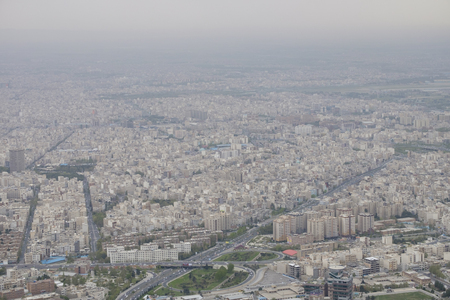 air polution over Tehran, Iran, 2017