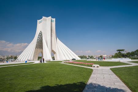 Azad 타워 (평균 자유) 또는 Shahyad 타워 (의미 킹의 기념탑), 테헤란,이란 1974 년 이후
