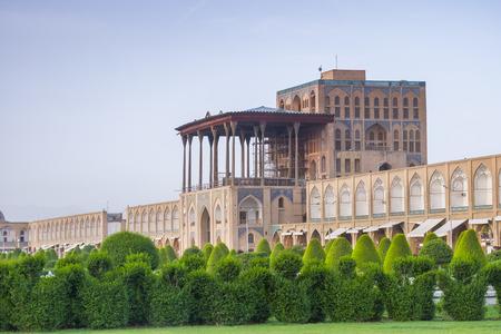 morning time view of Ali Qapu Palace, Nash-e Jahan square, Esfahan, Iran