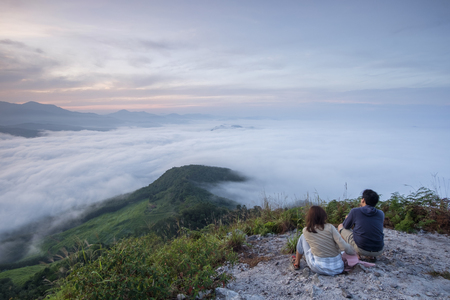 morning time view at Gunung Silipat summit 607 msl, Betong, thailand