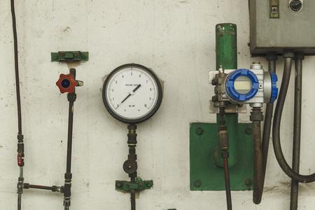 old pressure gauge ksc unit Standard-Bild