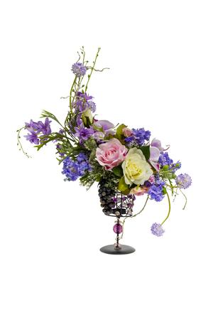 flowers craft in vase Stock Photo