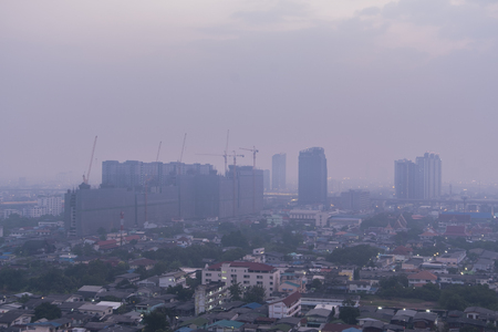 air pollution over Bangkok Thailand, PM2.5, Feb 2019