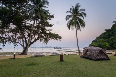 camping at Ko Rang, Mu Koh Chang national park,  Trad province, Thailand