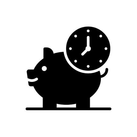 Save Time vector solid icon. Marketing and advertising symbol EPS 10 file Vektorové ilustrace