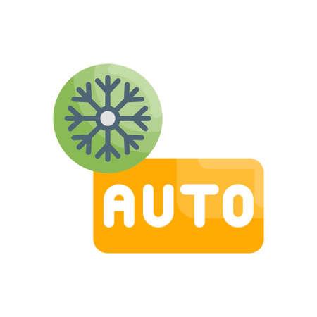 Auto mood vector flat icon style illustration. EPS 10 file